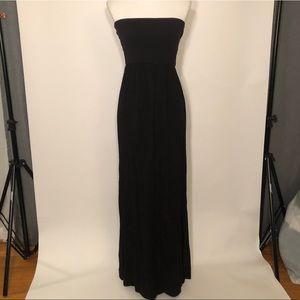 Black Splendid Tube Maxi Dress. Size S.